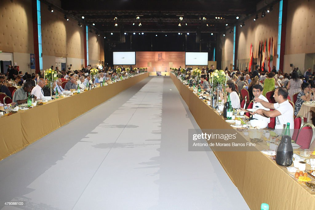 General view of the Tolerant & Democratic Islam vs Fanaticism & Extremism Dinner In Paris on July 3, 2015 in Paris, France.