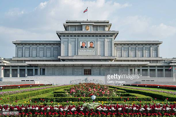 A general view of the tomb of Kim Kim Il Sung and Kim Jong IlKumsusan Palace of the Sun on August 23 2015 in Pyongyang North Korea North and South...