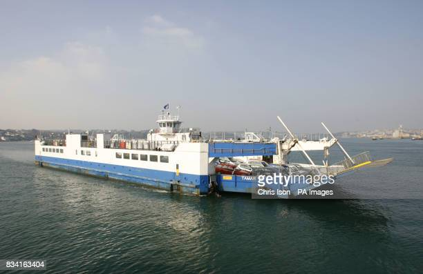 General view of the Torpoint Ferry Tamar II at Devonport in Plymouth Devon Picture date Monday February 18 2008 Picture credit should read Chris...