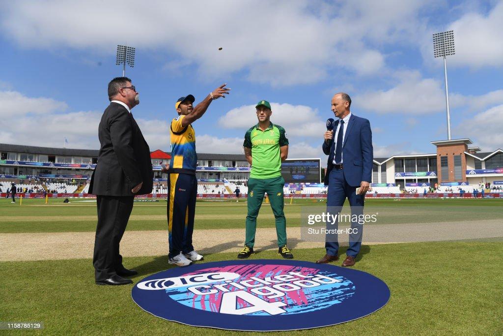 Sri Lanka v South Africa - ICC Cricket World Cup 2019 : News Photo
