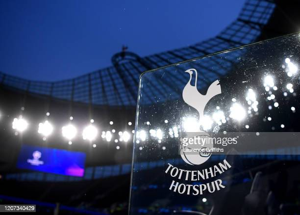 General view of the Tottenham Hotspur dugout inside the stadium prior to the UEFA Champions League round of 16 first leg match between Tottenham...