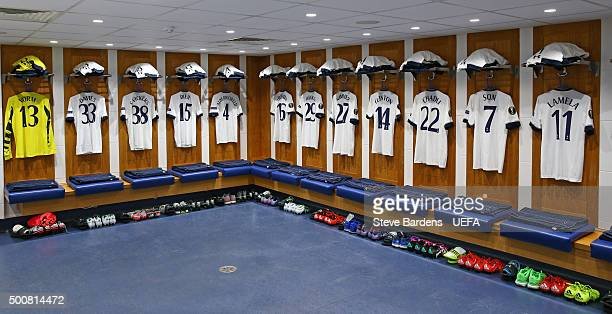 A general view of the Tottenham Hotspur FC dressing room prior to the UEFA Europa League group J match between Tottenham Hotspur FC and AS Monaco FC...