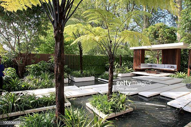 General view of the Tourism Malaysia Garden at Chelsea Flower Show on May 25, 2010 in London, England.The Royal Horticultural Society flagship flower...