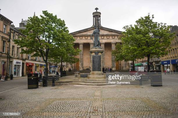 General view of the town centre on May 13, 2021 in Elgin, Scotland. Scotland's First Minister Nicola Sturgeon has announced that Moray may be kept in...