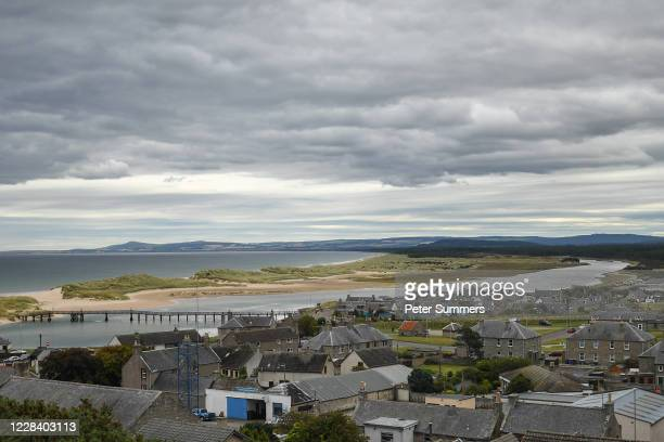 General view of the town of Lossiemouth on September 8, 2020 in Scotland, United Kingdom. A primary one student tested positive for Coronavirus at...