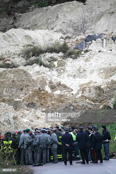 A general view of the town of Maierato on February 22 near Reggio Calabria Italy The southern Italian town was hit by torrential rains causing...