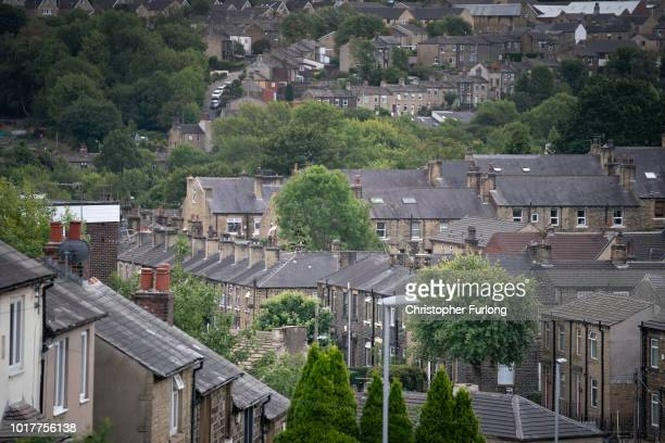 A general view of the townscape of Huddersfield as 31 people are charged in the Huddersfield sex abuse investigation on August 16 2018 in...