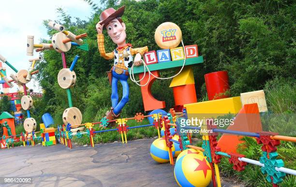 General view of The Toy Story Land at Disney's Hollywood Studios on June 28 2018 in Orlando Florida