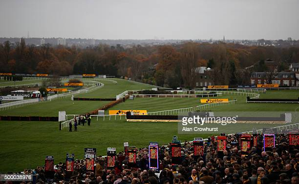 A general view of the track at Sandown racecourse on December 05 2015 in Esher England