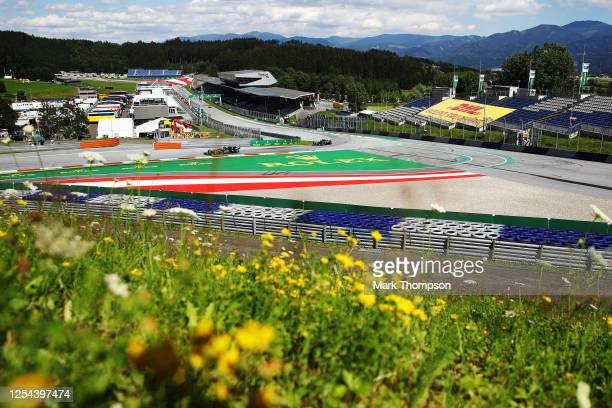 General view of the track during the Formula One Grand Prix of Austria at Red Bull Ring on July 05, 2020 in Spielberg, Austria.
