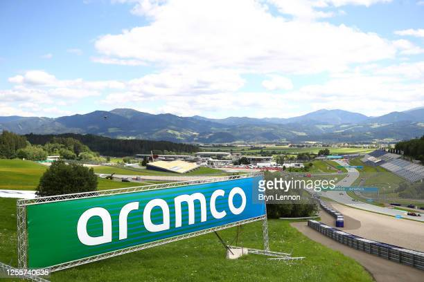 General view of the track during the Formula One Grand Prix of Styria at Red Bull Ring on July 12, 2020 in Spielberg, Austria.