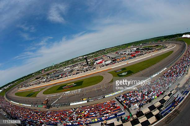 A general view of the track during the Iowa Corn Indy 250 at Iowa Speedway on June 23 2013 in Newton Iowa