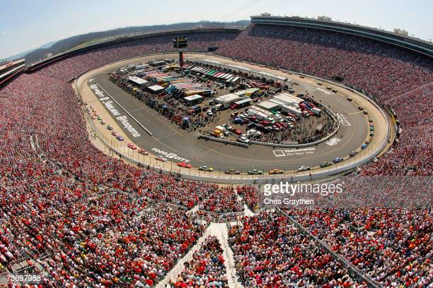 A general view of the track during the NASCAR Nextel Cup Series Food City 500 at Bristol Motor Speedway on March 25 2007 in Bristol Tennessee