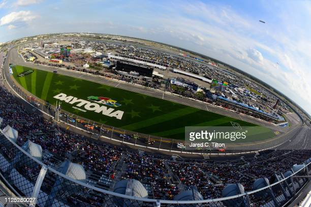 A general view of the track during the NASCAR Xfinity Series NASCAR Racing Experience 300 at Daytona International Speedway on February 16 2019 in...