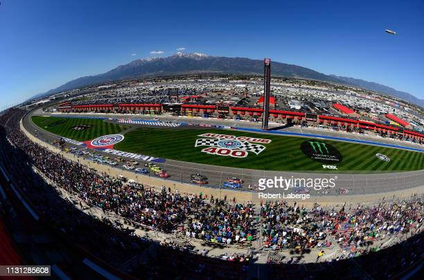General view of the trackj during the Monster Energy NASCAR Cup Series Auto Club 400 at Auto Club Speedway on March 17 2019 in Fontana California