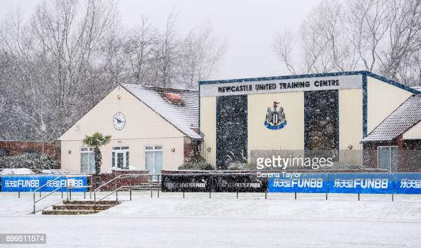 A general view of the Training Ground during the Newcastle United Training session at the Newcastle United Training Centre on December 29 in...