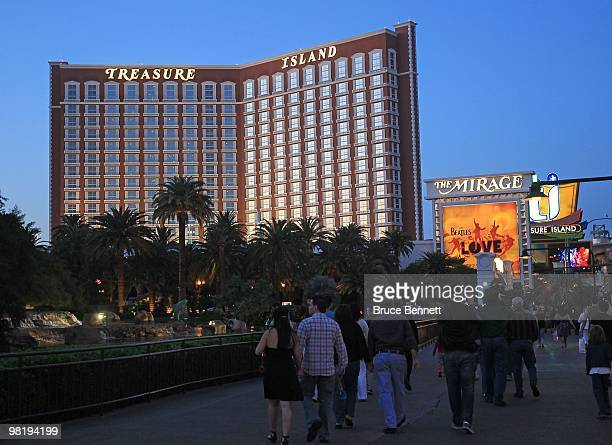 A general view of the Treasure Island Hotel and Casino on March 24 2010 in Las Vegas Nevada