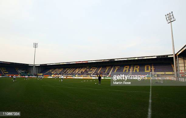 General view of the trendwork arena the U21 international friendly match between Germany and Netherlands at the trendwork arena on March 25, 2010 in...