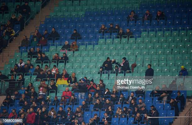 General view of the tribune with empty seats during the International Friendly match between Germany and Russia at Red Bull Arena on November 15 2018...