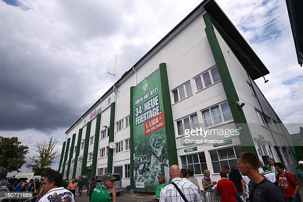 General view of the Trolli Arena prior to the Bundesliga match between Greuther Fuerth and FC Bayern Muenchen at Trolli Arena on August 25 2012 in...