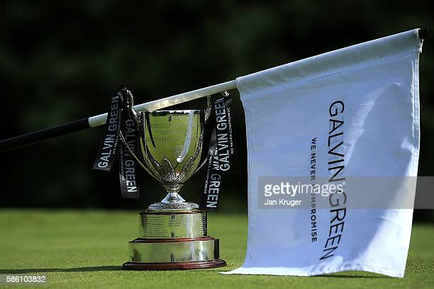 General view of the trophy ahead of the final round of the PGA Assistants Championships at Little Aston Golf Club on August 5 2016 in Sutton...