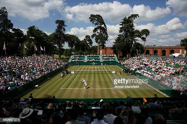 General view of the trophy match between Robin Haase of the Netherlands and Jan-Lennard Struff of Germany during day five of The Boodles Tennis Event...