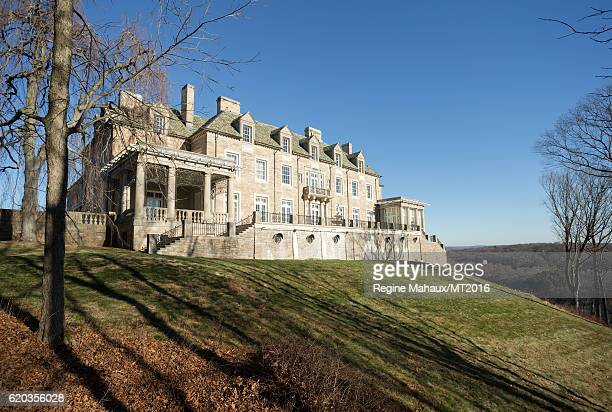 A general view of the Trump Country House during a photography session with Melania Trump on January 5 2016 in Westchester County New York