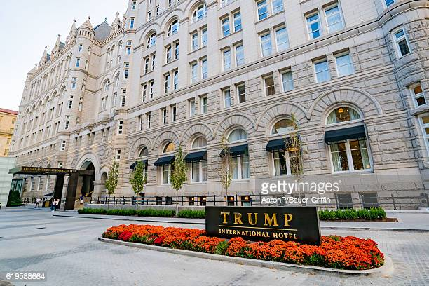 General view of the Trump International Hotel Washington DC at the Old Post Office on October 30 2016 in Washington DC Washington DC