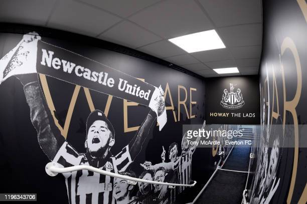 A general view of the tunnel at St James Park before the Premier League match between Newcastle United and Everton at St James Park on December 28...