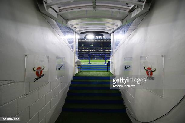 General view of the tunnel at Stamford Bridge prior to kick off of the Premier League match between Chelsea and Swansea City at Stamford Bridge on...