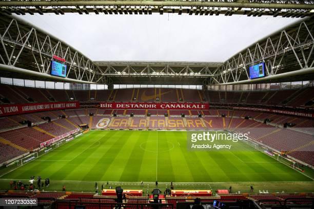General view of the Turk Telekom Stadium ahead of the Turkish Super Lig week 26 football match between Galatasaray and Besiktas, to be played behind...
