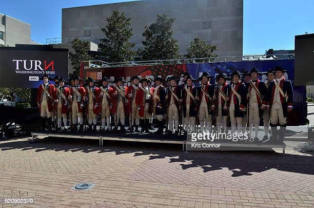 General view of the TURN Washington Spies DC Key Art Unveiling at Kogan Plaza on The George Washington University campus on April 13 2016 in...