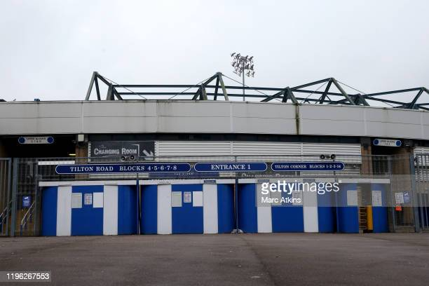 General view of the turnstiles at the Tilton Road stand during the FA Cup Fourth Round match between Coventry City and Birmingham City at St Andrew's...