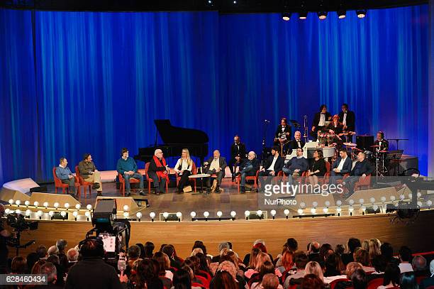General view of the TV show Maurizio Costanzo Show Studios Rome on december 07 2016
