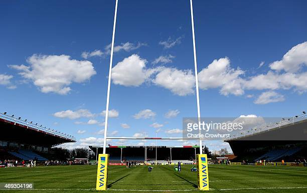 A general view of the Twickenham Stoop ahead of the Aviva Premiership match between Harlequins and Gloucester at Twickenham Stoop on April 11 2015 in...