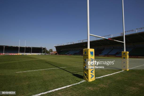 General view of the Twickenham Stoop prior to the Aviva Premiership match between Harlequins and Exeter Chiefs at Twickenham Stoop on May 5 2018 in...