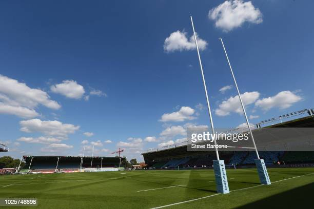 General view of the Twickenham Stoop prior to the Gallagher Premiership Rugby match between Harlequins and Sale Sharks at Twickenham Stoop on...
