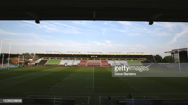 General view of the Twickenham Stoop prior to the Premiership Rugby Shield match between Harlequins v Gloucester United at Twickenham Stoop on...