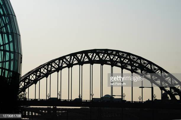 General view of the Tyne Bridge in Newcastle on September 17 2020 in Newcastle upon Tyne England Almost two million people in northeast England will...