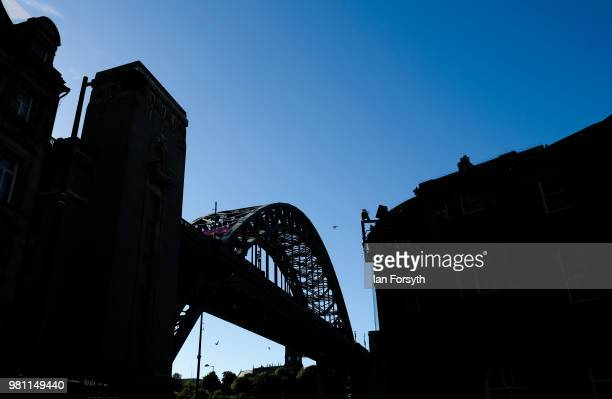 General view of the Tyne Bridge on the launch day of the Great Exhibition of the North on June 22, 2018 in Newcastle Upon Tyne, England. The Great...