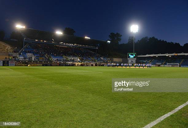 General view of the U Nisy Stadium, home of FC Slovan Liberec taken during the UEFA Europa League group stage match between FC Slovan Liberec and...