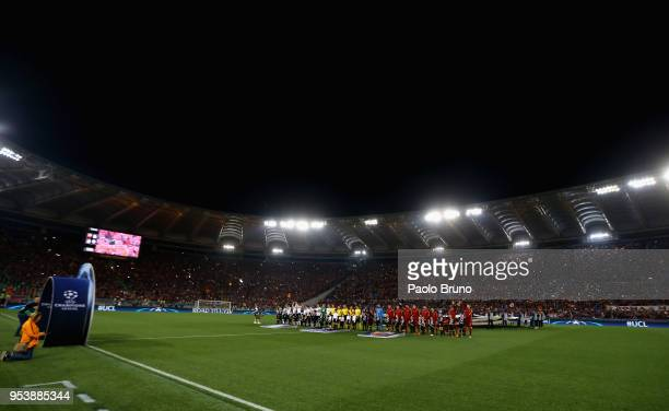 A general view of the UEFA Champions League Semi Final Second Leg match between AS Roma and Liverpool at Stadio Olimpico on May 2 2018 in Rome Italy