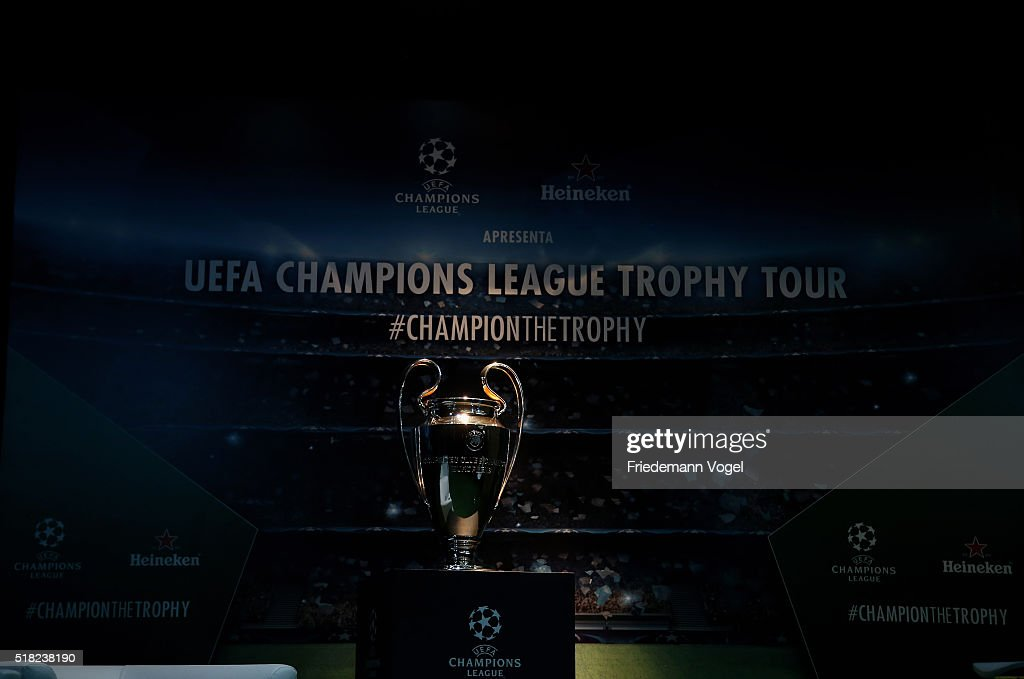 A General View Of The UEFA Champions League Trophy During Tour