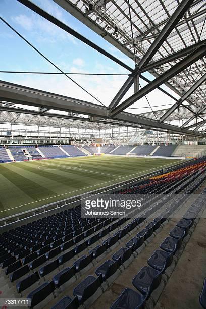 A general view of the UEFA EURO 2008 stadium WalsSiezenheim on February 14 2007 in Salzburg Austria