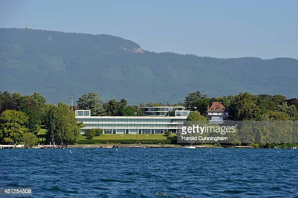 A general view of the UEFA headquarters The House of European Football on June 21 2014 in Nyon Switzerland