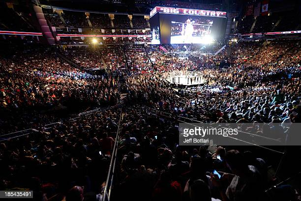 A general view of the UFC 166 event at the Toyota Center on October 19 2013 in Houston Texas