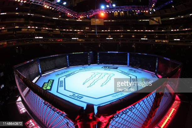 General view of the UFC 238 octagon at United Center on June 8 2019 in Chicago Illinois