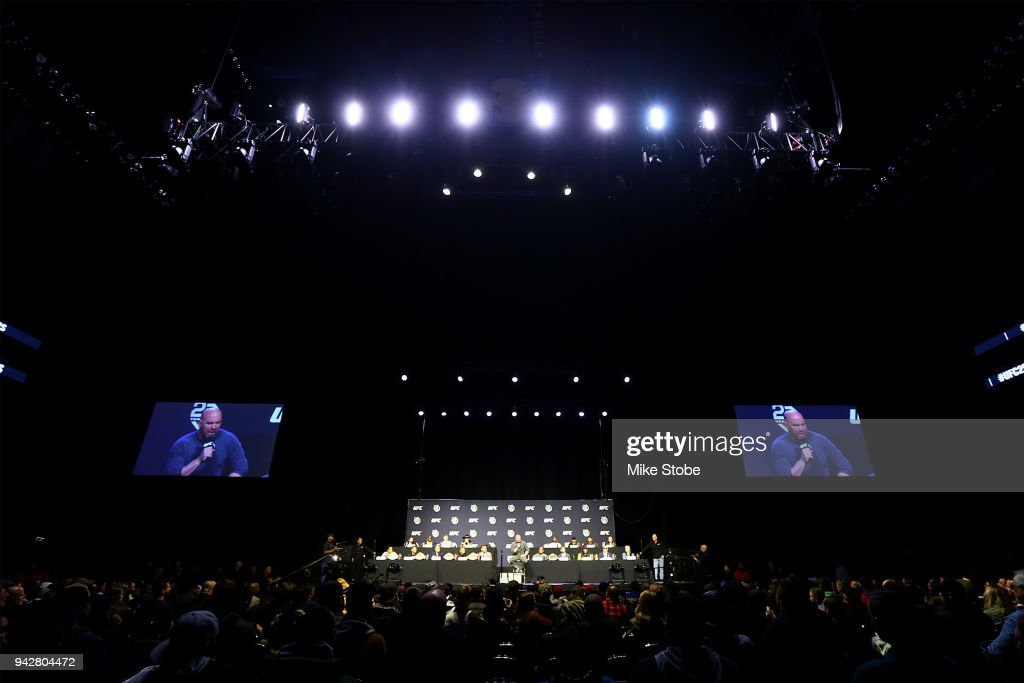 A general view of the UFC 25th Anniversary Press Conference inside at Barclays Center on April 6, 2018 in New York City.