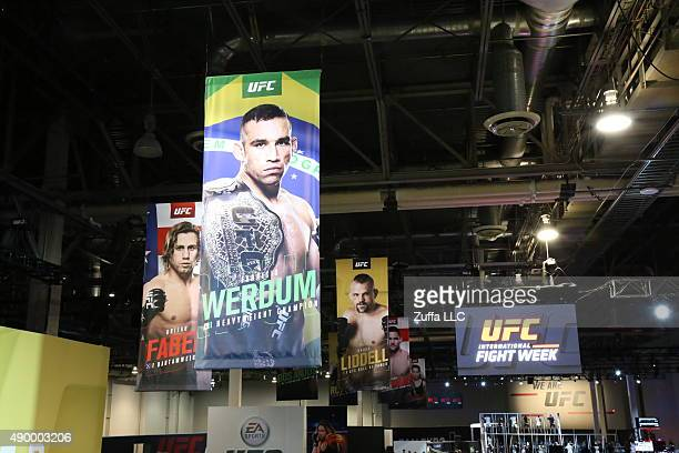 General view of the UFC Fan Expo in the Sands Expo and Convention Center on July 9 2015 in Las Vegas Nevada