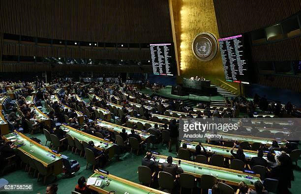 General view of the UN General Assembly meeting on Syria in New York United States on December 09 2016